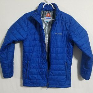 Columbia Mens Small Omni-Heat Blue Puffer Jacket